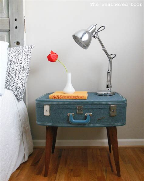 Suitcase End Table Diy Paint