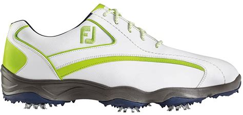 SuperLites Men's Golf Shoes, White/Lime, Close-out, 58008