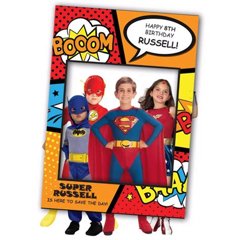 Superhero-Photo-Booth-Frame