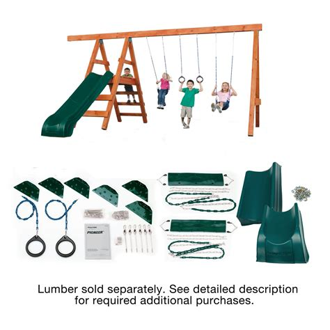 Swing N Slide Pioneer Deluxe Diy Hardware Kit With Slide
