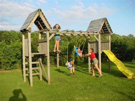 Swing Set Plans Built With Pretreated Lumber