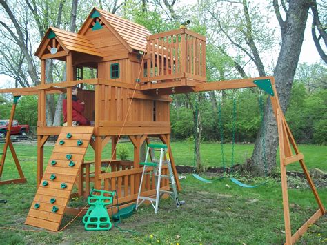 Swing Set With Fort Plans
