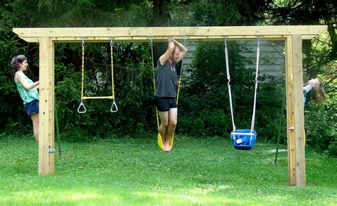 Swing Set With Monkey Bars Plans