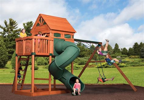 Swing-Set-With-Tree-House-Plans