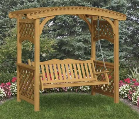 Swinging-Bench-And-Arbor-Plans