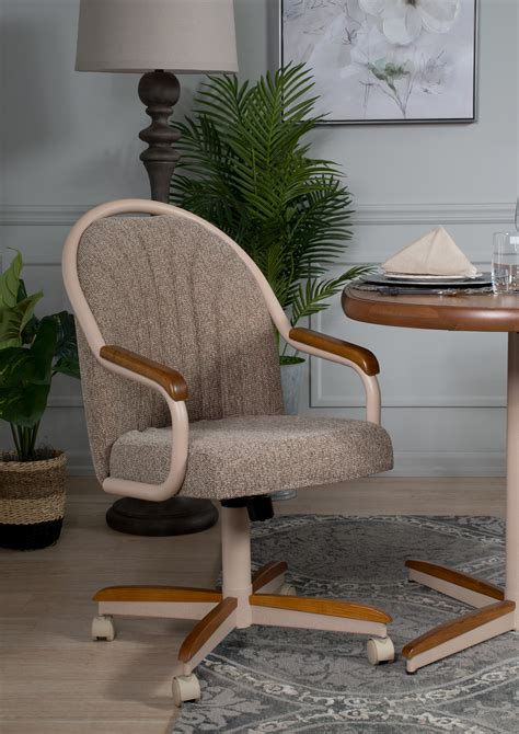 Swivel Rolling Dining Chairs