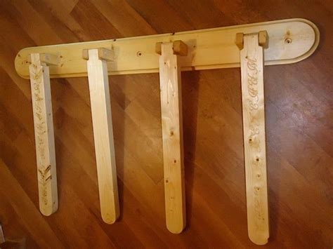 Swivel Wall Mounted Wood Quilt Rack