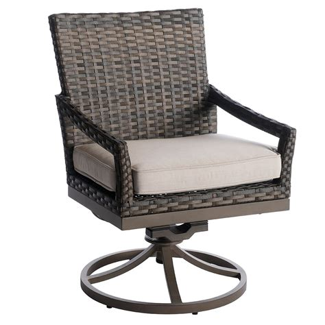 Swivel Wicker Dining Chairs