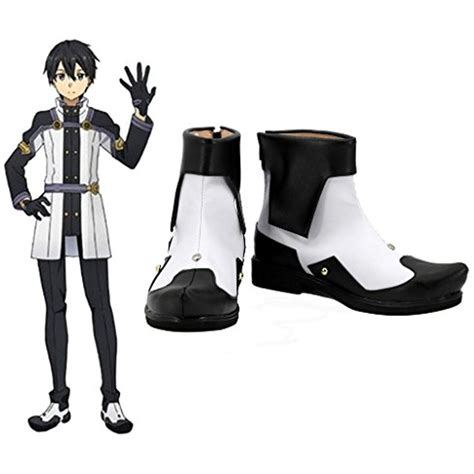 Sword Art Online Ordinal Scale Kirigaya Kazuto Kirito Cosplay Shoes Boots Custom Made