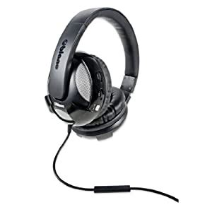 Syba NC-2 UFO 2.1 Dual Driver Headphone with Built-In Amplifier and In-Line Microphone, Black Model (OG-AUD63051)