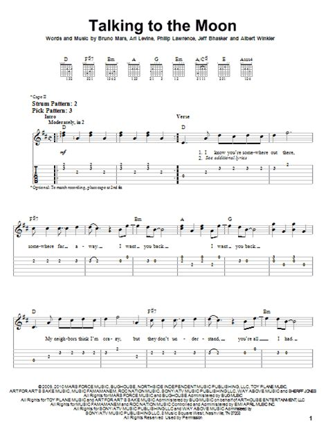 @ Talking To The Moon Chords By Bruno Mars  Ultimate-Guitar Com.