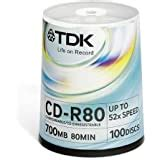 TDK 5-Pack 74-Minute CD-R Discs (CDR74TWNAXS5) (Discontinued by Manufacturer)