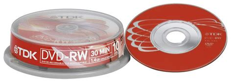 TDK DVD-RW 1.4Gb 8cm 30min Spindle 10 camcorder mini dvd 1.4 gb tdk dvdrw