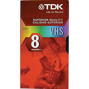 TDK T-160 VHS Video Tapes - 10 Pack