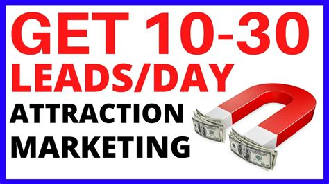 @ The Attraction Marketing Formula To Get 10-30 Leads Per Day Online.