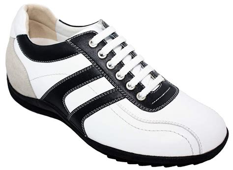 TOTO-A66362-2.8 Inches Taller-Height Increasing Elevator Shoes (White Leather Lace-up Sneakers)