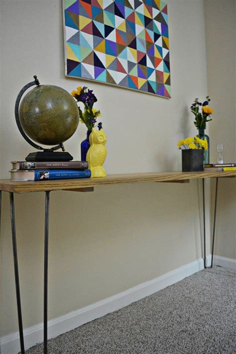 Tabke Leg Entryway Table DIY