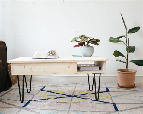 Table Basse Hairpin Legs Diy