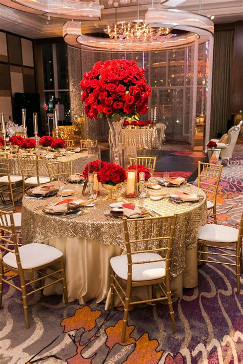 Table Centerpiece Ideas In Red And Gold