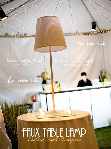 Table Lamp Diy Centerpieces