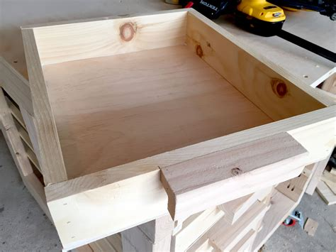 Table Made Of Drawer Diy