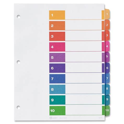 Table Numbers Template By Avery