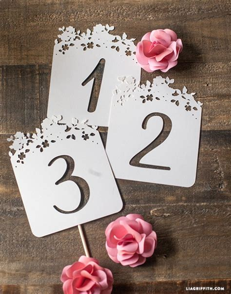 Table Numbers Template Diy Paper