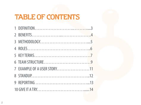 Table Of Contents Definition