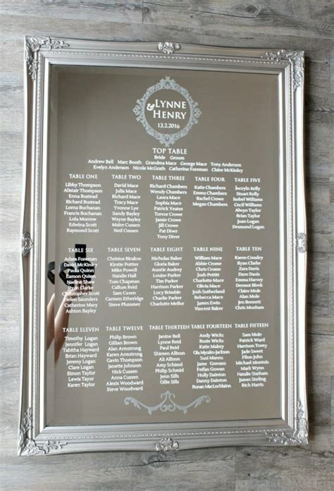 Table Plan Mirror Stickers