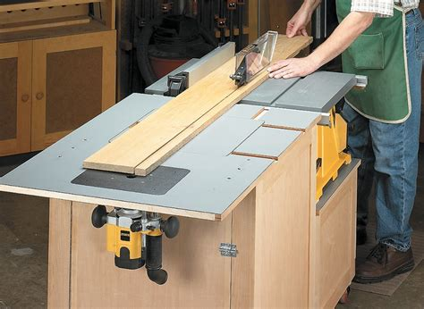 Table Saw And Router Table Plans