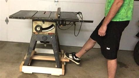 Table Saw Base With Retractable Wheels Plans