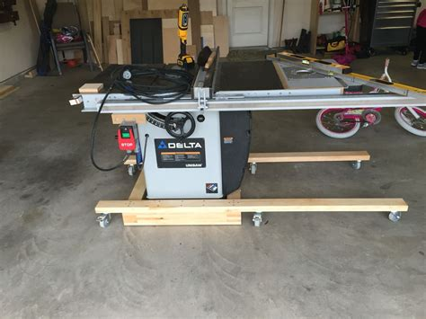 Table Saw DIY Mobile Base