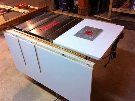 Table Saw Folding Outfeed Table Plans