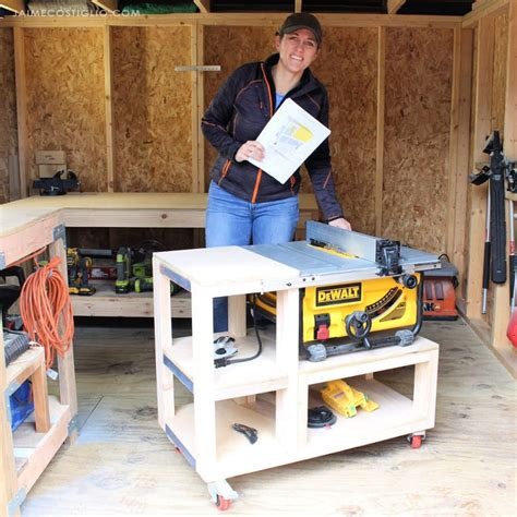 Table Saw Mobile Cart Plans