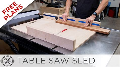 Table Saw Sled Plans Free Youtube