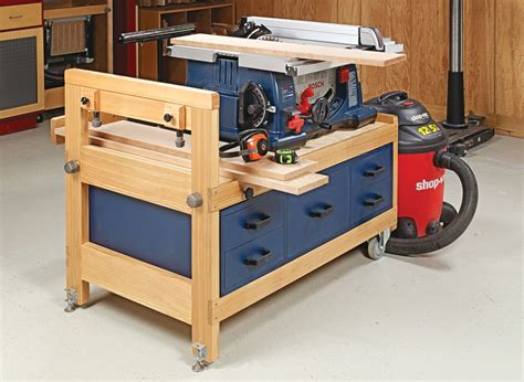 Table Saw Stand Plans For Small Workshop