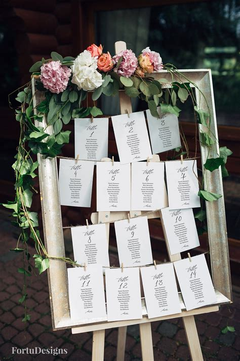 Table Seating Cards Diy Ideas
