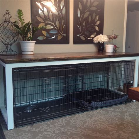 Table To Go Over Dog Crate Diy