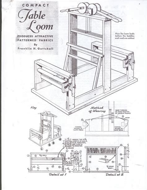 Table Top Weaving Loom Plan