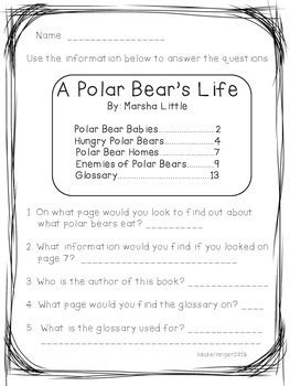 Table-Of-Contents-Lesson-Plans-First-Grade