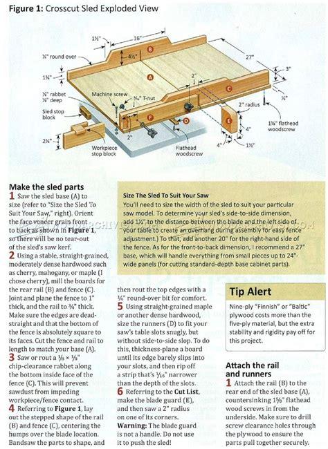 Table-Saw-Push-Sled-Plans-Cut-List