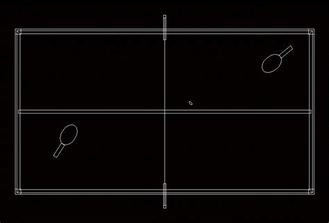 Table-Tennis-Plan-Cad-Block