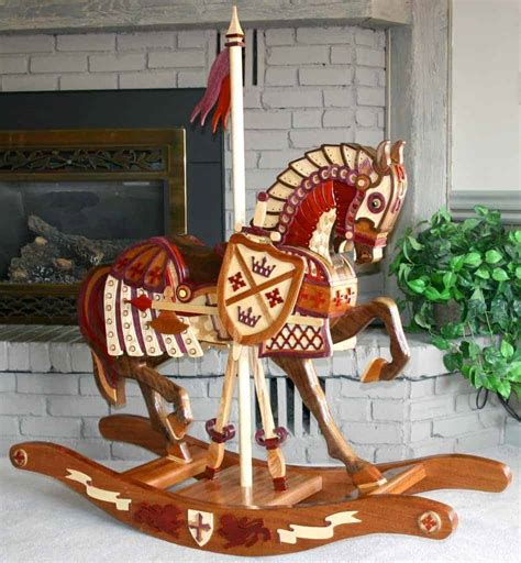 Table-Top-Carousel-Rocking-Horse-Plans