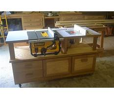 Best Table saw router cabinet plans