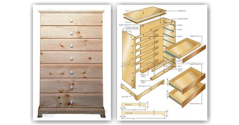Tall Chest Of Drawers Woodworking Plans