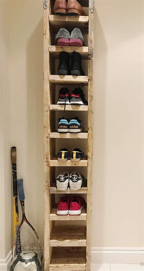Tall Shoe Rack Diy Wood