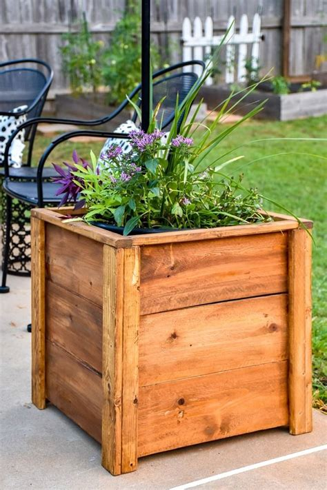 Tall Wood Planter Box Diy