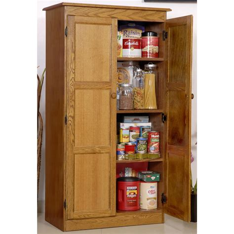 Tall Wood Storage Cabinet Office