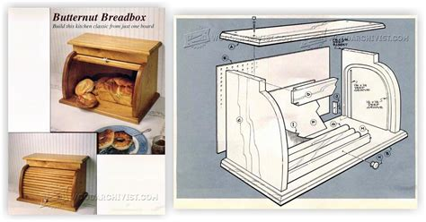 Tambour Door Bread Box Plans