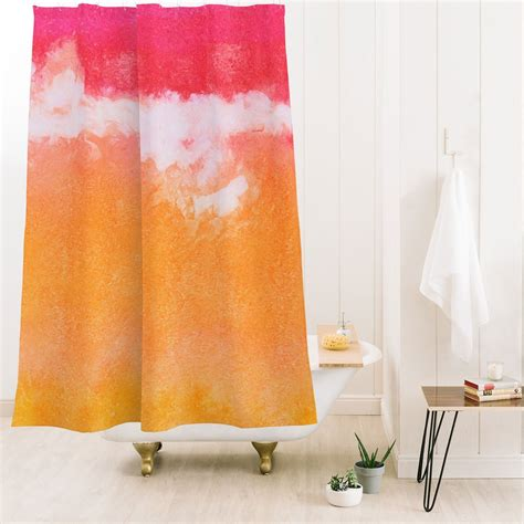 Tangerine Tie Dye Shower Curtain